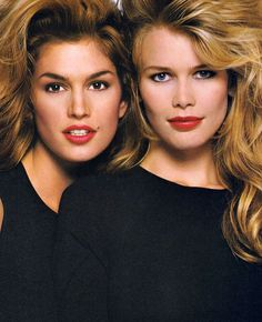 Cindy Crawford and Claudia Schiffer for Revlon 90s Ad Campaign