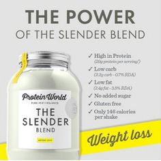 Protein World Slender blend. Just bought the Vanilla to try out! <3