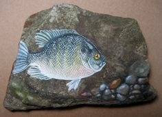 Blue Gill on Slate by =LiquidFaeStudios on deviantART