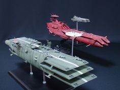 Space Battleship Yamato 2199, 1/1000 scale models by Bandai.