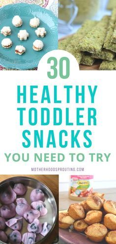 Learn the 30 healthy toddler snacks you need to try! These toddler snacks can be combined to make healthy toddler meals as well! All these easy toddler recipes are so yummy your toddler will love them! #toddler #healthyrecipes