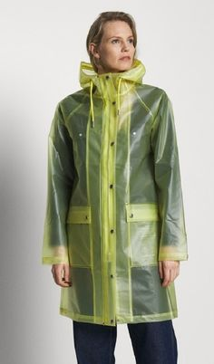 Plastic Mac, Rain Cape, Rainy Day Fashion, Yellow Raincoat, Rain Wear, Plastic Art, Cowl, Yellow, Jackets