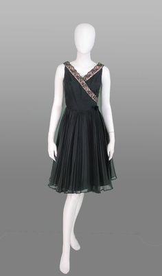 1950s Fred Perlberg Dance Originals black lace