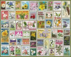 Puzzle 1000, Puzzle Art, Puzzle Toys, Rainbow Resource, Educational Toys For Kids, Flower Stamp, Vintage Stamps, Purple Lilac, Puzzle Pieces