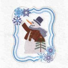This free embroidery design is a snowman.  Download it today.