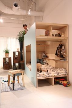 Cozy and functional interior of the indoor child's hut. Photo: SuMiKa Interior acolhedor e funcional da cabana da criança interior. Japanese Interior Design, House Inside, Bedroom Layouts, Kids Room Design, Dream Rooms, Kids Bedroom, Room Kids, Small Bedrooms, Bedroom Ideas
