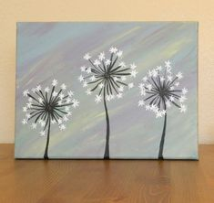 Original Dandelion Acrylic Painting on Canvas by AshleyMadelines