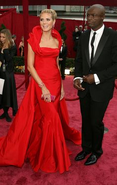 Heidi Klum in John Galliano (2008). RED! she's just gorgeous!