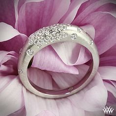 Champagne Pave Diamond Right Hand Ring// this is what i want mine to look like