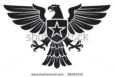 eagle and star coat of arms by Tribalium, via ShutterStock