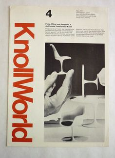Knoll newsletter featuring doll house furniture, Box Massimo and Lella Vignelli papers, Vignelli Center for Design Studies, Rochester, New York Vintage Graphic Design, Graphic Design Typography, Grid Design, Design Art, International Typographic Style, Massimo Vignelli, Swiss Design, Exhibition Poster, Branding