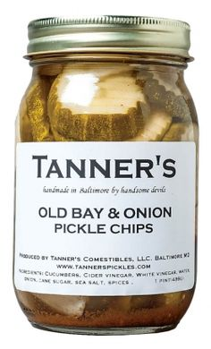 Tanner's Old Bay & Onion handmade Pickles from Baltimore MD    www.tannerspickles.com