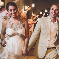 The #Bride and the #Groom so happy and just married! #Makeup by Olga Bustos #MakeupArtist in #Cabo. #caboweddings