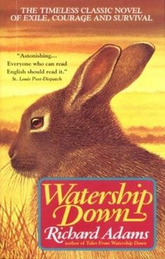The 1978 animated film Watership Down, about a warren of rabbits who are forced to flee their home and start again after the arrival of humans, is based on the award winning children's novel by Richard Adams.