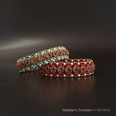 Beading Tutorial 2 in 1 Bracelet Pattern Double by SmadarsTreasure