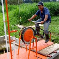 Lots of useful machines made from bicycles.