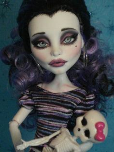 ~ Rickie ~ OOAK Monster High Spectra Repaint ~ by Bordello ~
