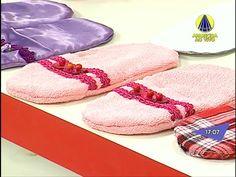 Chinelo Pantufa Feminino com Tecidos Ibirapuera Textil por Ligia Mara - YouTube