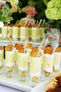 Banana Pudding Parfaits-by camillestyles banana pudding, sweet, puddings, food, bananas, pud parfait, recip, dessert, parti