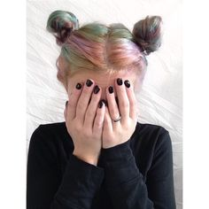 i love space buns, i need to start wearing my hair up like this -m.r.