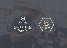 Rocketfuel Branding Development by Nathan Riley Logo Branding, Brand Identity, Branding Design, Logos, Vintage Logo Design, Vintage Designs, Retro Vintage, Icon Design, Web Design