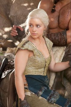 Daenerys Targaryen - I have the urge to make this costume. It is so rough yet it has this tribal uniqueness.