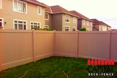 Westech Vinyl Fence - 6' high. Color - Pebblestone. @ Nepean, ON #fencing #pvcfences