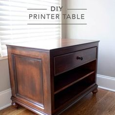 DIY Evelyn Regency Nightstand Plans: Build this adorable DIY nightstand with free, step-by-step plans by Jen Woodhouse from The House of Wood. Bedside Table Inspiration, Childrens Play Table, Woodworking Desk Plans, Youtube Woodworking, Woodworking Machinery, Woodworking Classes, Woodworking Videos, Woodworking Shop, Refinished Chairs