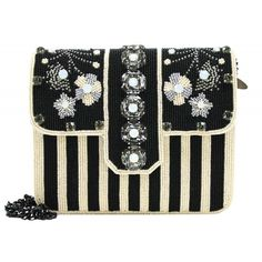 Mary Frances beaded embellished handbags fuse whimsy with elegance, femininity with functionality. Richly embellished with opulent natural stones and trims from all over the world, each piece is handcrafted in intricate detail. Black And White Design, Black White, Mary Frances, Natural Stones, Thrifting, Fashion Accessories, Gems, Handbags, Purses