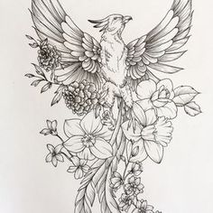 55 Ideas tattoo thigh phoenix tat for 2019 Feather With Birds Tattoo, Feather Tattoos, Forearm Tattoos, Flower Tattoos, Tattoo Hip, Scale Tattoo, Elephant Tattoos, Animal Tattoos, Trendy Tattoos