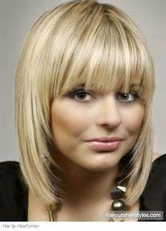 glam medium hair with blunt bangs medium hairstyles gallery
