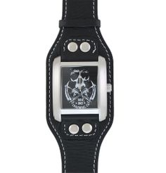 BikerOrNot Store - Sons of Anarchy Shadow Reaper Leather Watch, $89.97 (http://store.bikerornot.com/sons-of-anarchy-shadow-reaper-leather-watch/)