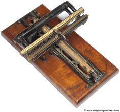 Sun 1 typewriter - 1884 (Martin Howard Collection)