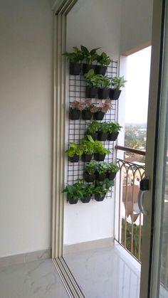 balcony garden grill design - balcony garden grill design How do I organize my balcony plants? Small Balcony Design, Small Balcony Garden, Small Balcony Decor, Balcony Plants, House Plants Decor, Outdoor Balcony, Plant Decor, Balcony Grill Design, Small Balconies