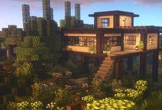 Minecraft House Plans, Minecraft Mansion, Minecraft Houses Survival, Easy Minecraft Houses, Minecraft House Tutorials, Minecraft Room, Minecraft City, Minecraft House Designs, Minecraft Construction