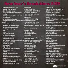 Can't quite find a great new years resolution? Look over this list for lots of great ideas! #newyears