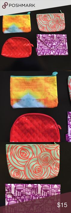 "Ipsy Make Up Bags! Price is for all four bags. Measurements(differ slightly from bag to bag) 7x4"". Never used. Comes from a smoke/pet free home. ipsy Makeup"