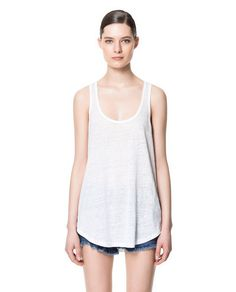 Image 1 of LINEN TANK TOP from Zara