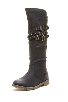 Bucco Sultan Stud Trimmed Tall Boot by Fall Shoe Essentials on @HauteLook