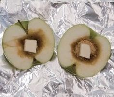 Baked Apple for camping! Hollow out the core and fill with brown Baked Apple for camping! Hollow out the core and fill with brown sugar and a pat of butter. Wrap in tin foil and place in the coals. Source by qwietpleez Camping Glamping, Camping Meals, Family Camping, Camping Hacks, Camping Desserts, Camping Cooking, Camping Checklist, Camping Stuff, Cocina Natural