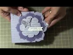 card making video tutorial: Fun with Framelits Birthday Card ... die cutting, stamping, embossing and embelishing ... Stampin' Up!