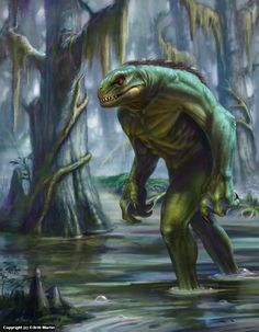 Lizardman of Scape Ore Swamp  A piece done for the cover of Cryptic Culture Magazine issue 4 www.cryptidculture.com