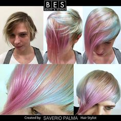 An amazing transformation on her client  Cut | Hair Painting. #BALAYAGE #HAIRPAINTING #WAVYHAIR #BLONDE #bes #italy #before #after #look #hair #haircolor #blonde #blu #pink #purple #hairmodel #hairdresser #parrucchieri #taglio #capelli #colore #DECOBES #HAIRBLEACHING
