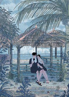 Remembering The Details Paar Illustration, Korean Illustration, Couple Illustration, Character Illustration, Digital Illustration, Cute Couple Drawings, Cute Couple Cartoon, Cute Couple Art, Aesthetic Art
