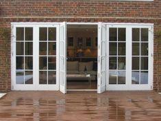 Best Exterior House With French Doors 28 Wooden Back Doors, Wooden Garage Doors, Porch Doors, Garage Door Design, House Doors, Windows And Doors, Contemporary Garden Rooms, Roller Doors, Timber Door