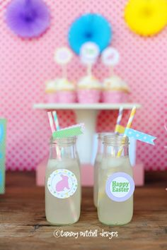 bunny party drink ideas easter straw flags easter party egg hunt party printables web
