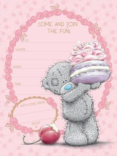 Come to my Tatty Teddy Party! (SA Greetings) http://www.sagreetings.co.za/