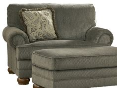 Oversized Parcal Estates-Basil upholstered chair with ottoman from Ashley Furniture.  Looks great in traditional living rooms and home office spaces.  Visualize it in your home: http://planner.roomsketcher.com/?ctxt=rs_com
