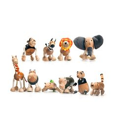 The Wild Animals Set From AnaMalz from The Wooden Toybox