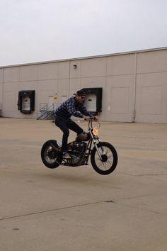 Bunny hoppin' bobber cycle.